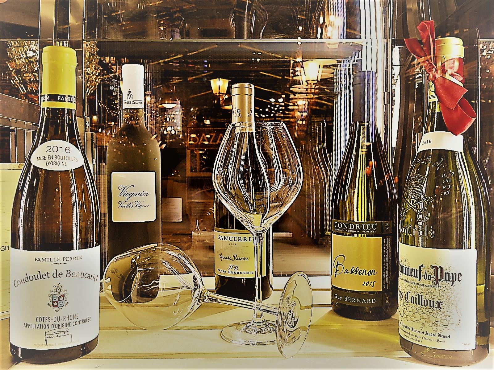 Les Vins BlancsNotre carte au Vieux Marché